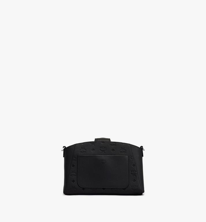 MCM Essential Crossbody Bag in Monogram Leather Black MWRASSE06BK001 Alternate View 3