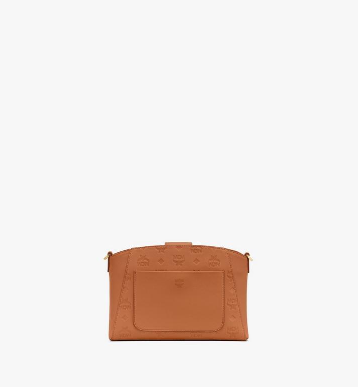 MCM Essential Crossbody Bag in Monogram Leather Cognac MWRASSE06CO001 Alternate View 3