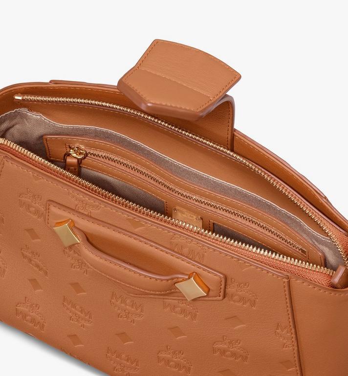 MCM Essential Crossbody Bag in Monogram Leather Cognac MWRASSE06CO001 Alternate View 4