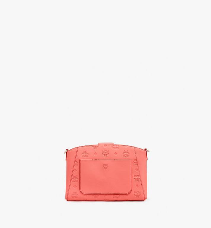MCM Essential Crossbody-Tasche aus Leder mit Monogramm Pink MWRASSE06O3001 Alternate View 3