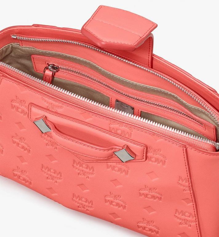 MCM Essential Crossbody-Tasche aus Leder mit Monogramm Pink MWRASSE06O3001 Alternate View 4