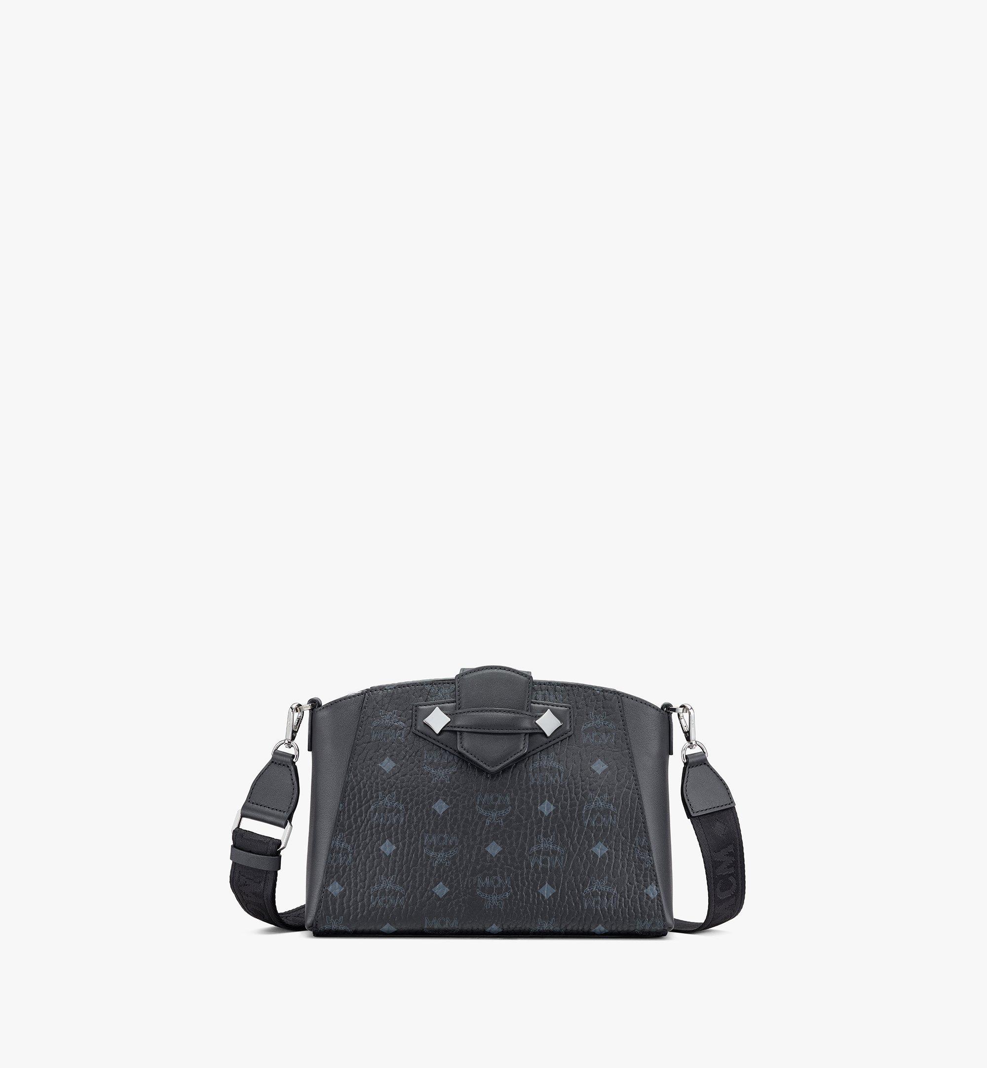 MCM Essential Crossbody Bag in Visetos Original Black MWRASSE07BK001 Alternate View 1