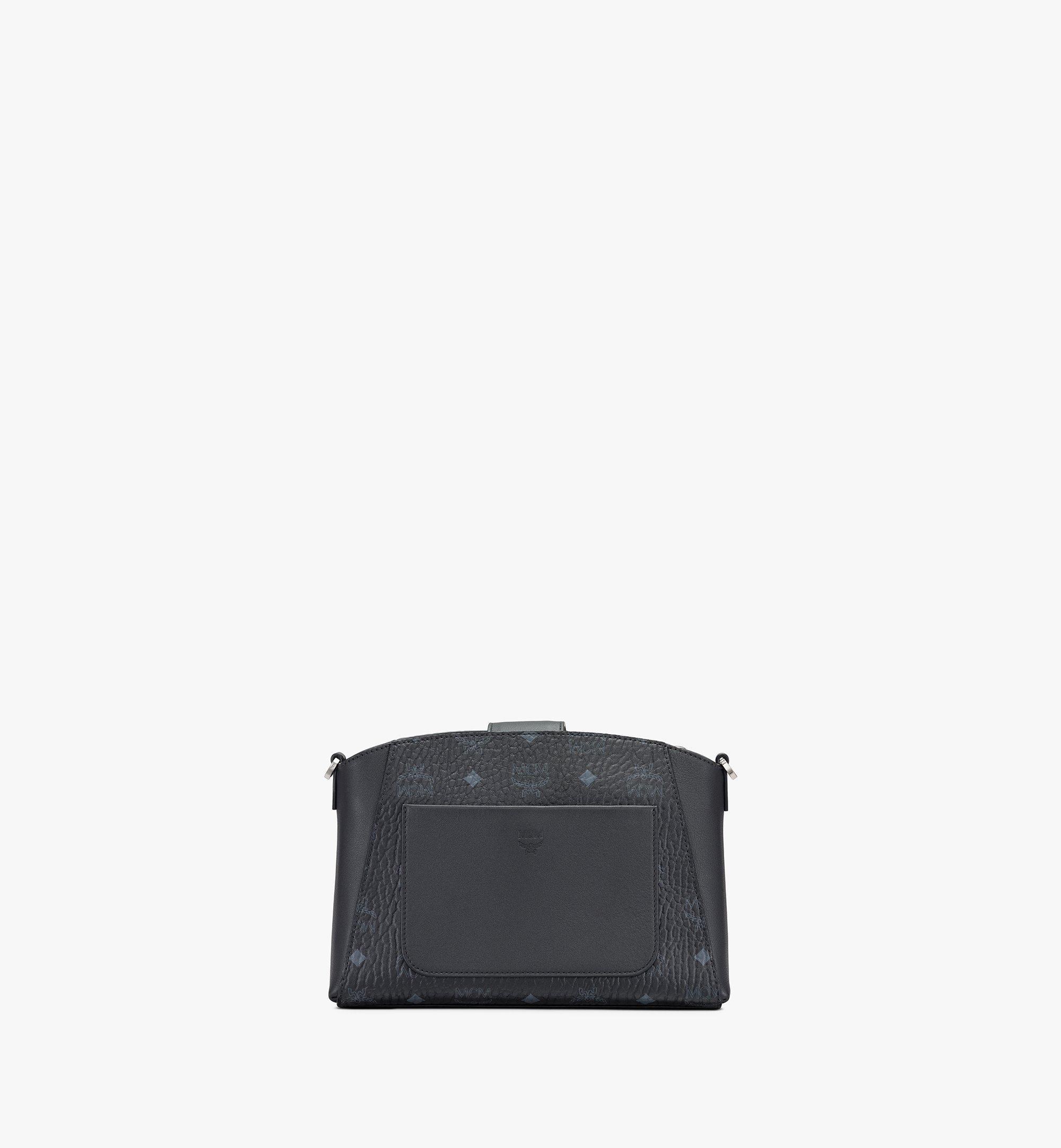 MCM Essential Crossbody Bag in Visetos Original Black MWRASSE07BK001 Alternate View 3