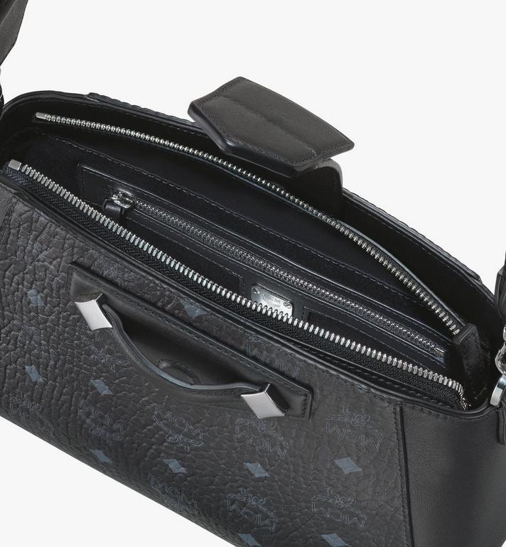 MCM Essential Crossbody Bag in Visetos Original Black MWRASSE07BK001 Alternate View 4