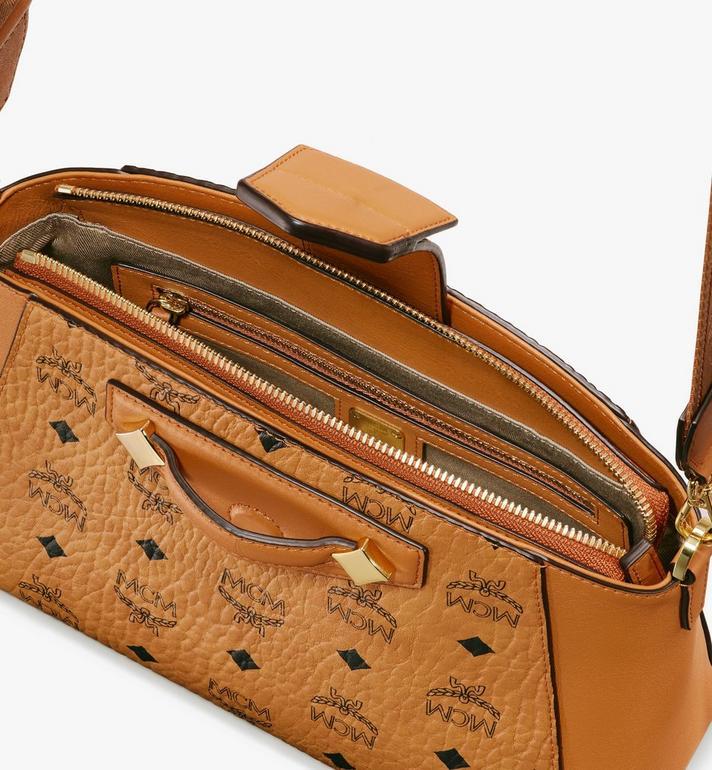 MCM Essential Crossbody-Tasche in Visetos Original Cognac MWRASSE07CO001 Alternate View 4