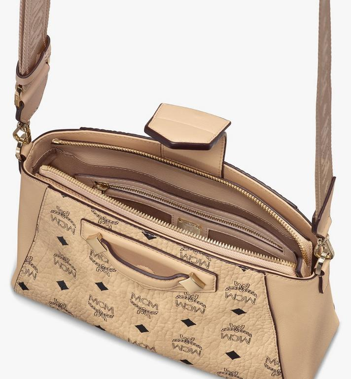 MCM Essential Crossbody Bag in Visetos Original Beige MWRASSE07IG001 Alternate View 4