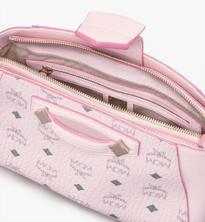 MCM Essential Crossbody Bag in Visetos Original Pink MWRASSE07QH001 Alternate View 4