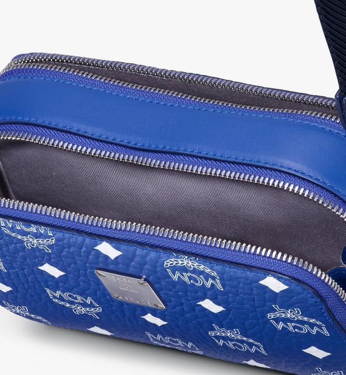 MCM E/W Crossbody-Tasche in Visetos Original Blue MWRASVI01H1001 Alternate View 4