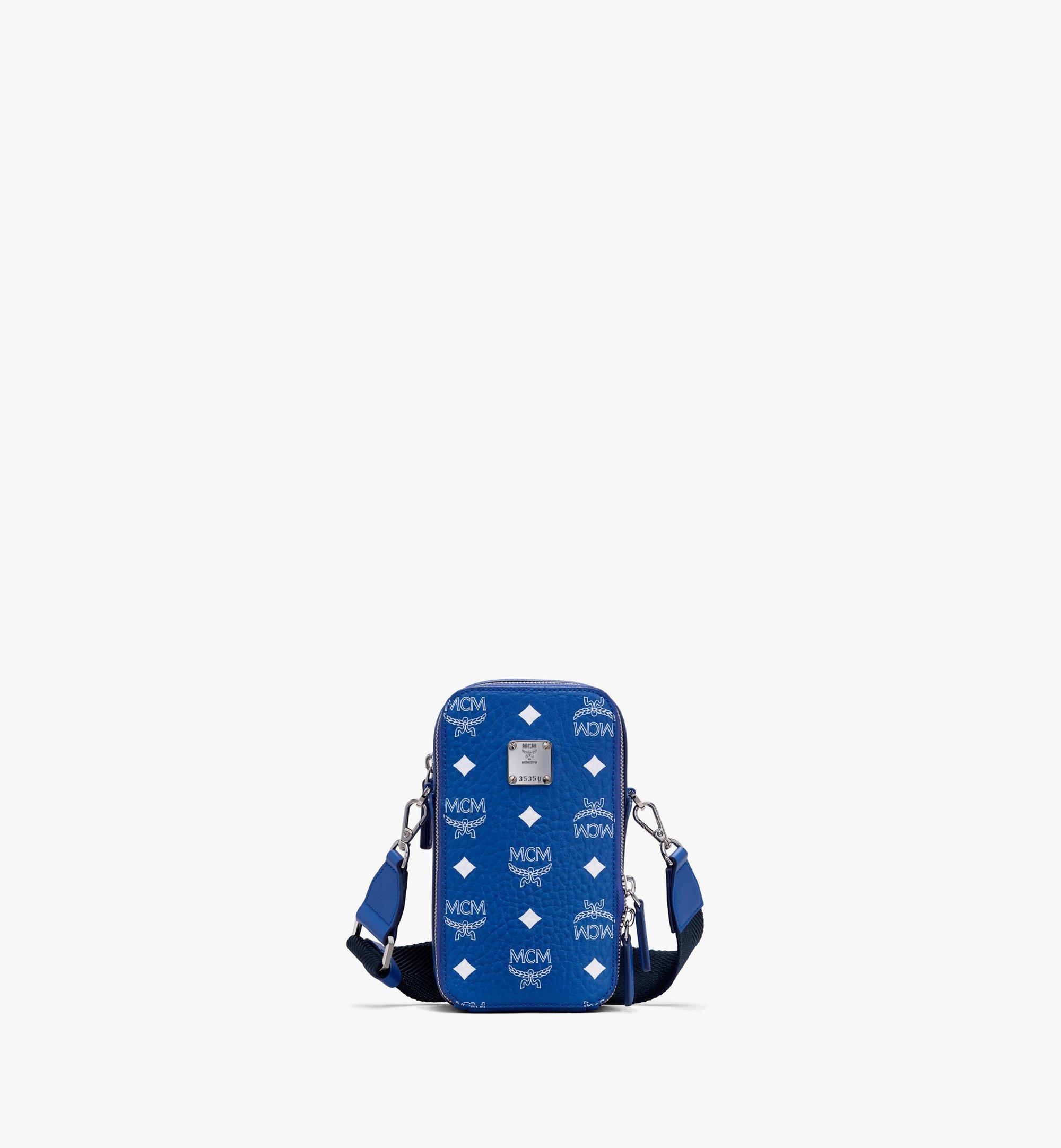 MCM N/S Crossbody-Tasche in Visetos Original Blue MWRASVI02H1001 Alternate View 1