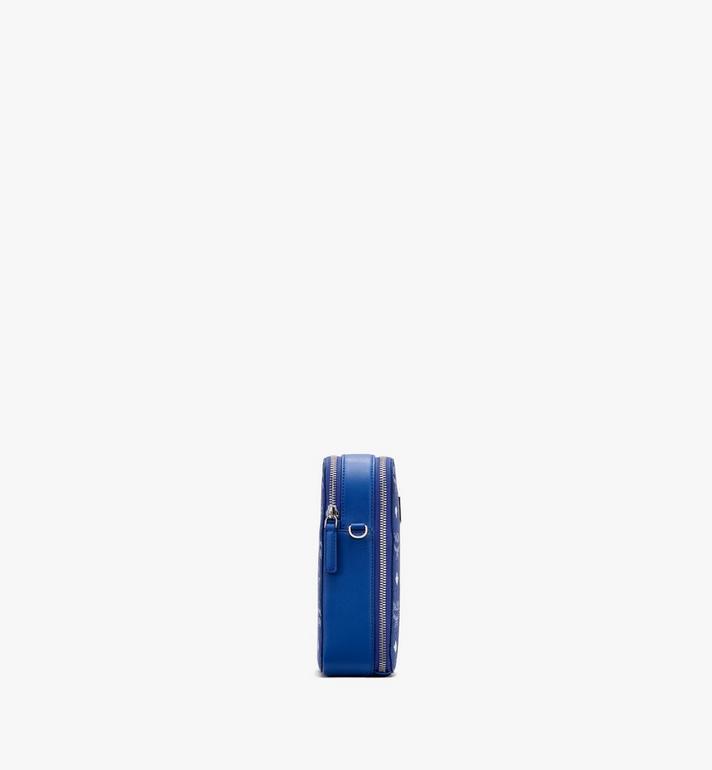 MCM N/S Camera Bag in Visetos Original Blue MWRASVI02H1001 Alternate View 2