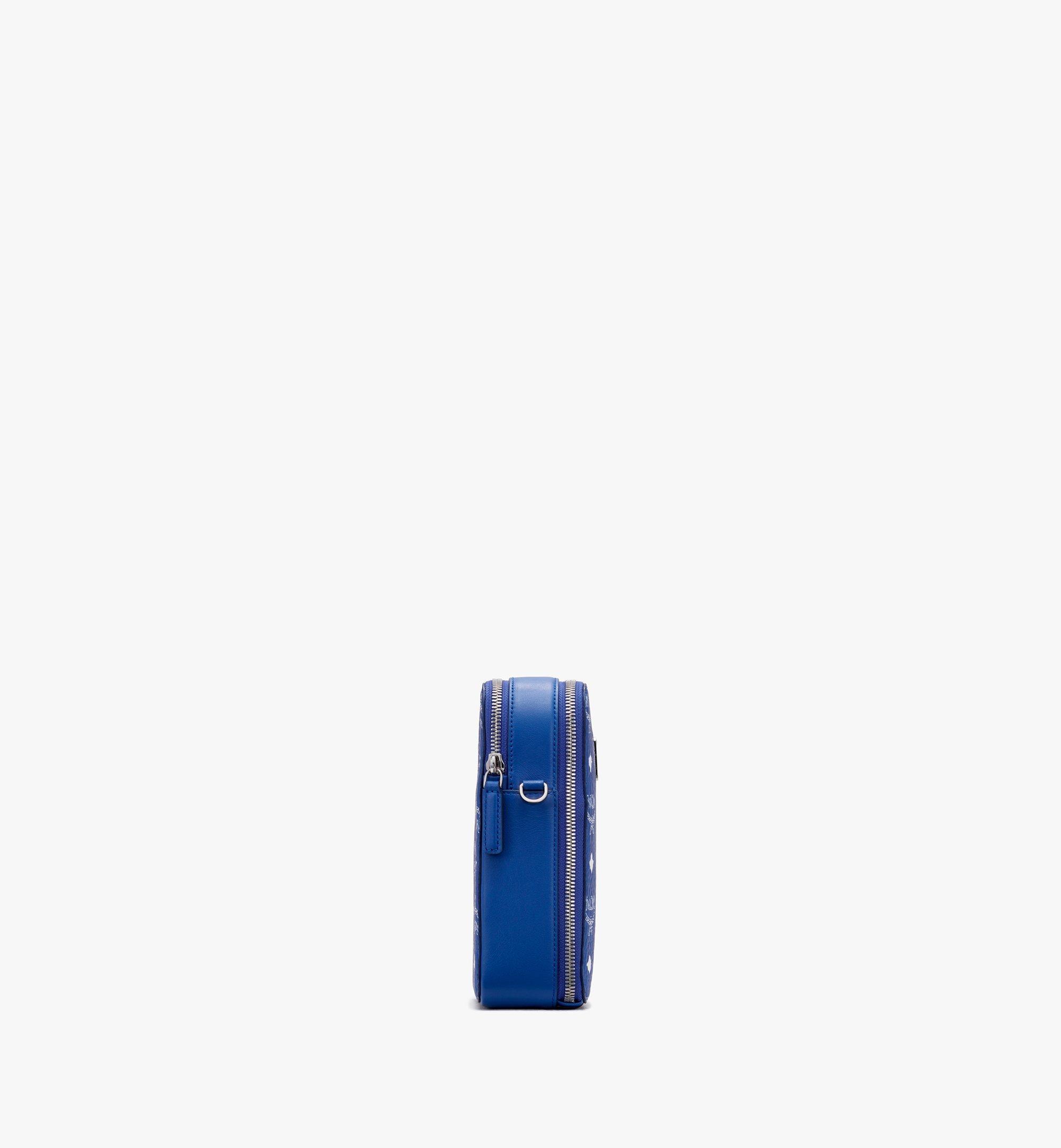 MCM N/S Crossbody-Tasche in Visetos Original Blue MWRASVI02H1001 Alternate View 2