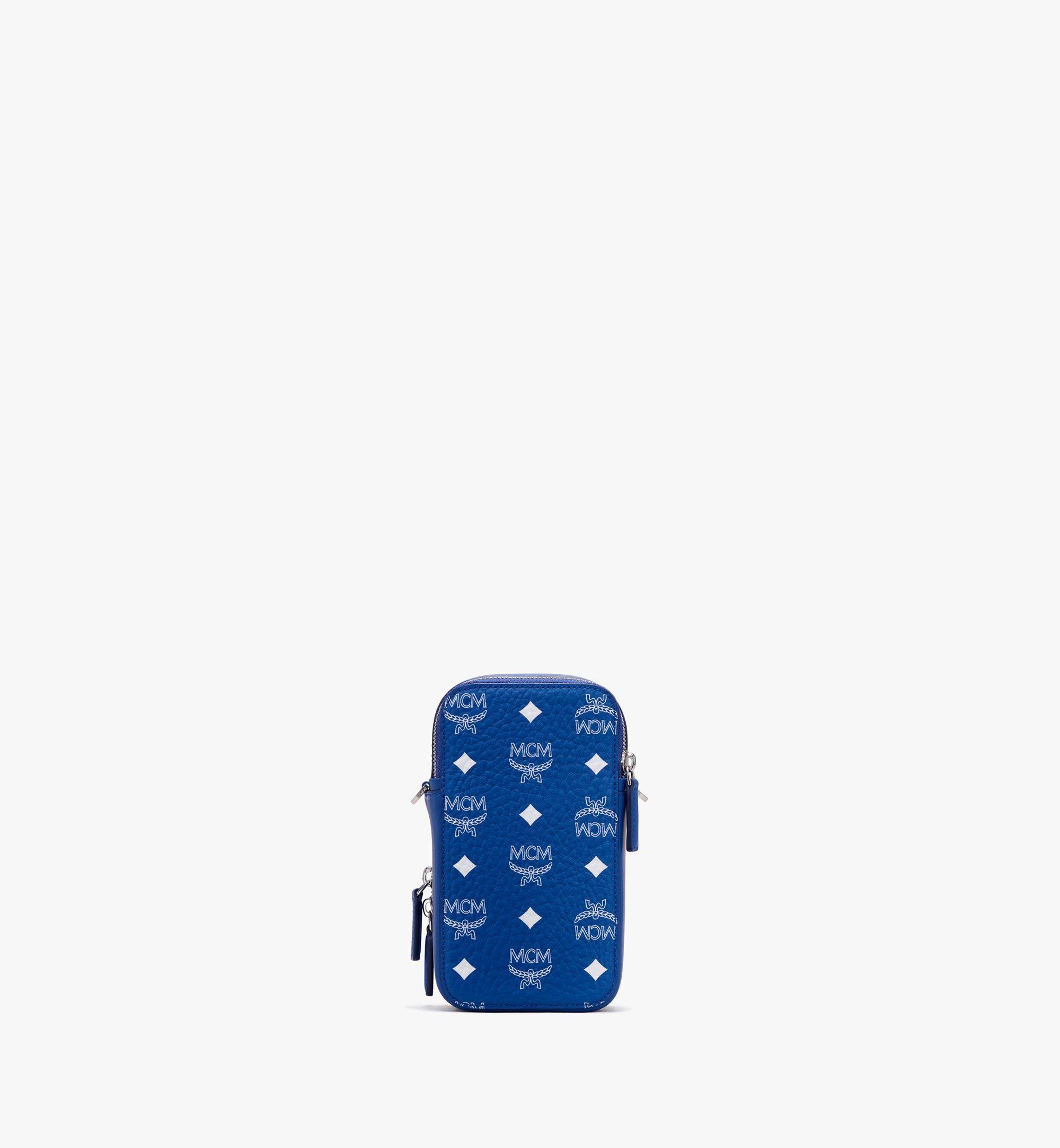 MCM N/S Crossbody-Tasche in Visetos Original Blue MWRASVI02H1001 Alternate View 3