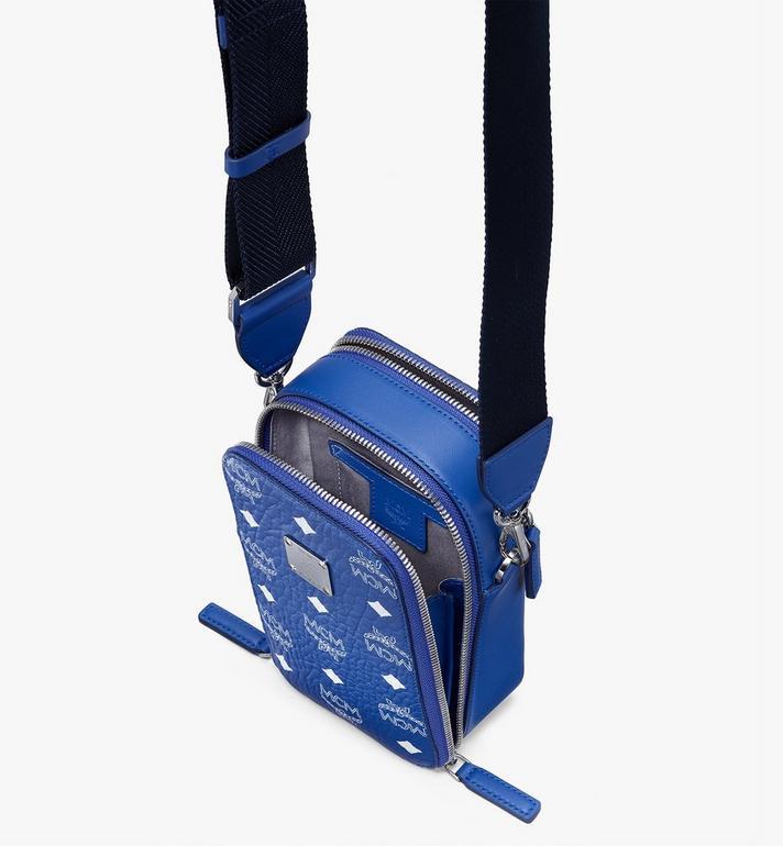 MCM N/S Camera Bag in Visetos Original Blue MWRASVI02H1001 Alternate View 4
