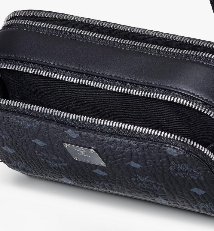 MCM Crossbody-Tasche in Visetos im Querformat Black MWRASVI03BK001 Alternate View 4