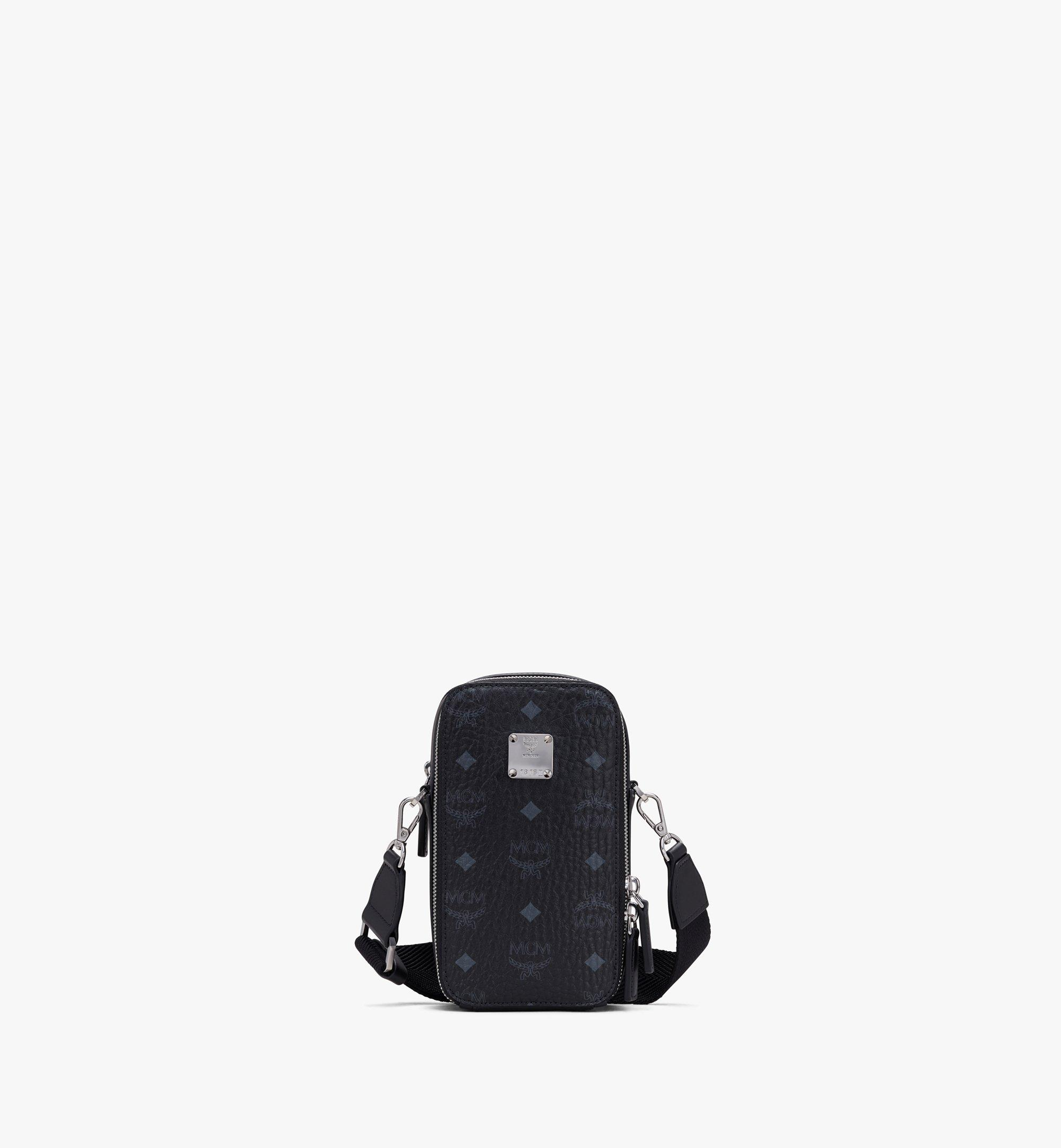 MCM N/S Camera Bag in Visetos Black MWRASVI04BK001 Alternate View 1