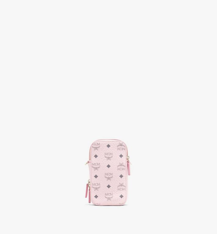 MCM N/S Camera Bag in Visetos Pink MWRASVI04QH001 Alternate View 3