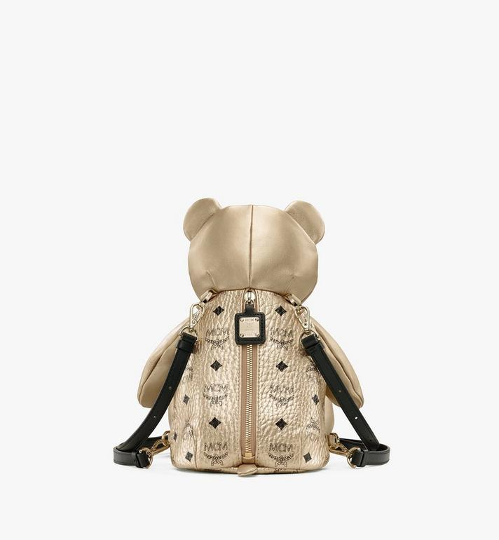 MCM MCM Zoo Bear Backpack in Visetos Gold MWRASXL05T1001 Alternate View 3