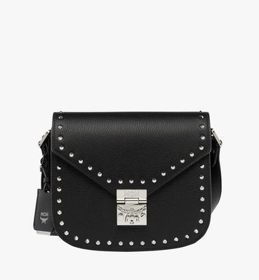 Patricia Studded Outline Shoulder in Grained Leath