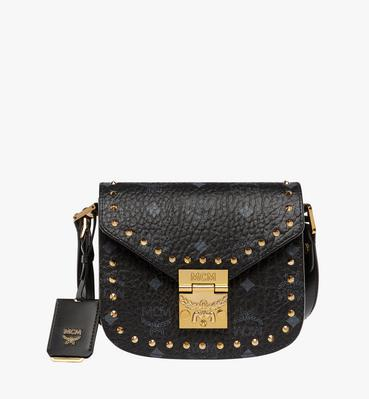 Patricia Studded Outline Schultertasche in Visetos