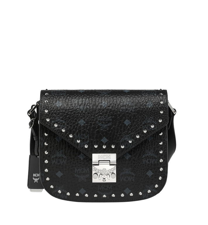 MCM Patricia Shoulder Bag in Studded Outline Visetos Alternate View