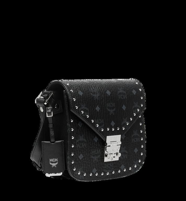 MCM Patricia Shoulder Bag in Studded Outline Visetos Black MWS8APA24BK001 Alternate View 2