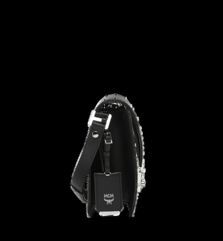 MCM Patricia Shoulder Bag in Studded Outline Visetos Black MWS8APA24BK001 Alternate View 3