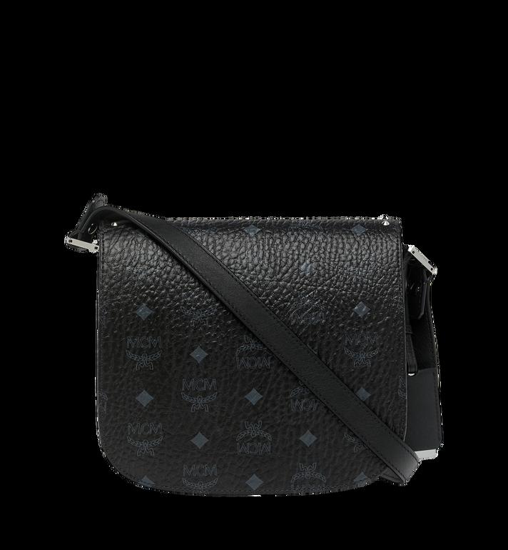 MCM Patricia Shoulder Bag in Studded Outline Visetos Black MWS8APA24BK001 Alternate View 4