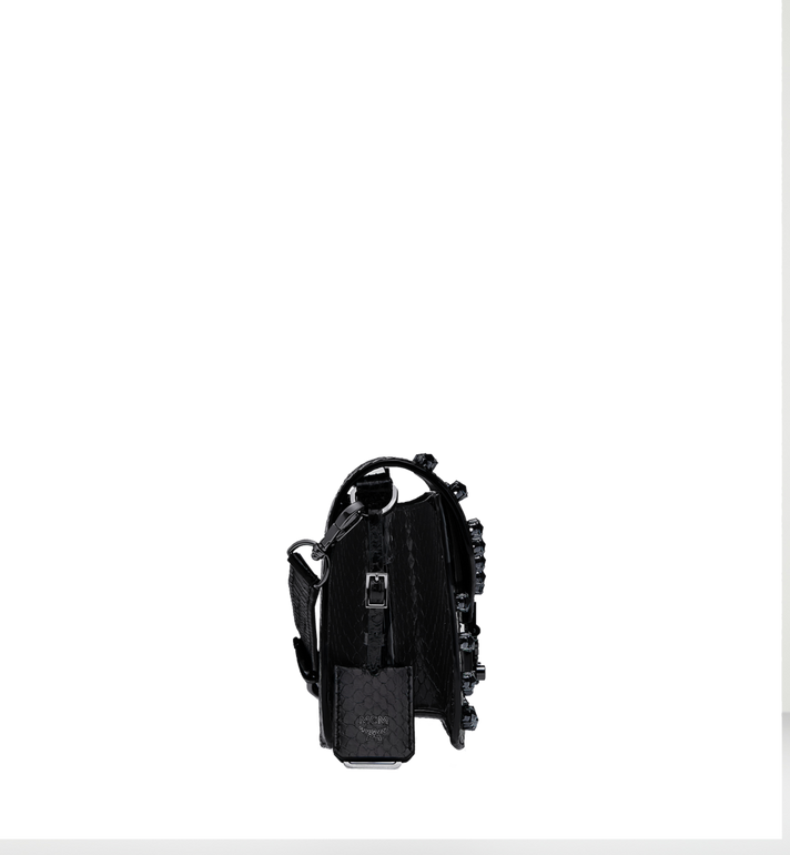 MCM PATRICIA SCHULTERTASCHE AUS EXOTIC CRYSTAL LEDER  MWS8APA30BK001 Alternate View 4