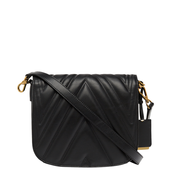MCM Patricia Shoulder Bag in Quilted Leather Alternate View 4