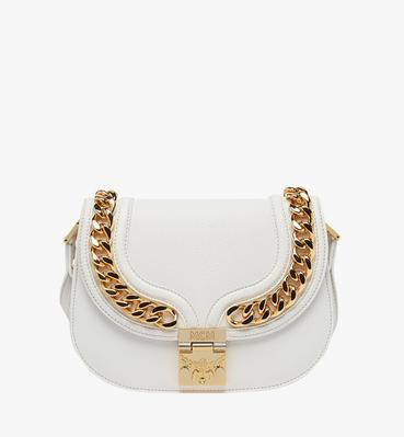 Trisha Chain Shoulder Bag in Pebble Grain Leather