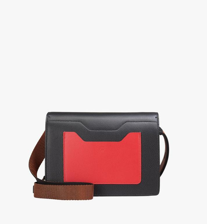 MCM Milano Shoulder Bag in Calfskin Leather Black MWS9ADA22BK001 Alternate View 3