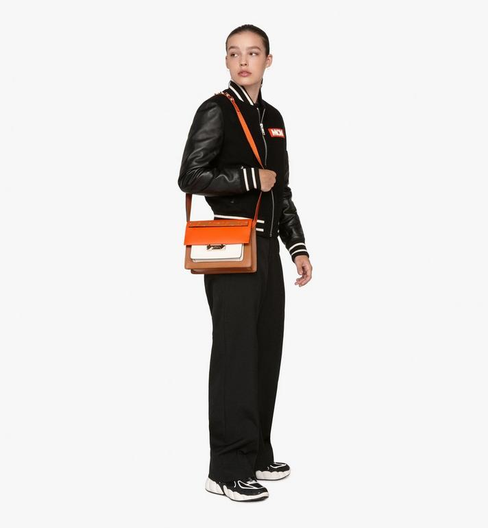 MCM Milano Shoulder Bag in Calfskin Leather Alternate View 5