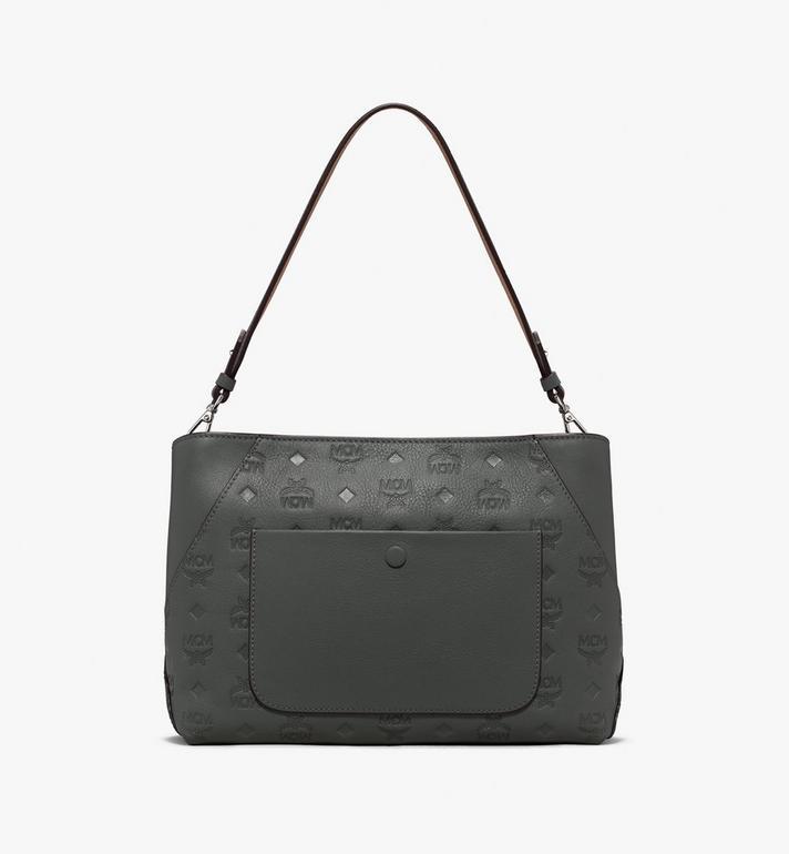 MCM Klara Shoulder Bag Grey MWS9AKM79EC001 Alternate View 3
