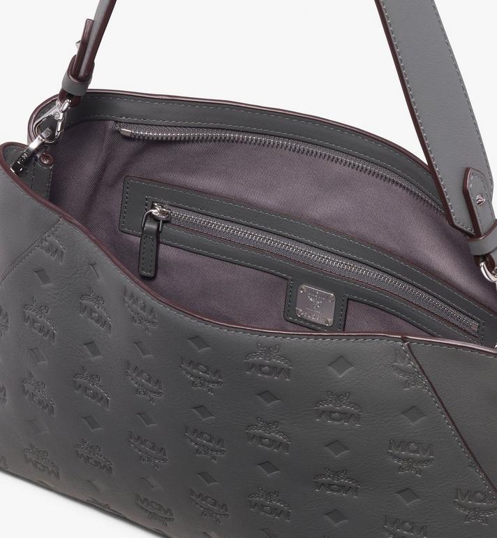 MCM Klara Shoulder Bag Grey MWS9AKM79EC001 Alternate View 4