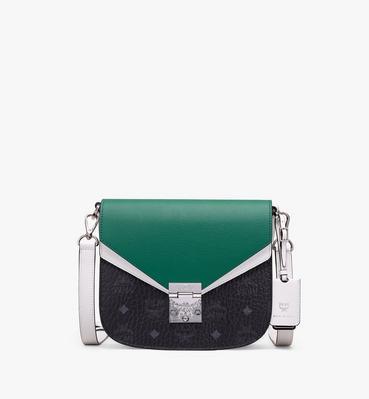 กระเป๋าสะพายข้าง Patricia วัสดุหนังสีคัลเลอร์บล็อก