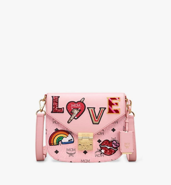 MCM Patricia Shoulder Bag in Love Patch Visetos Alternate View