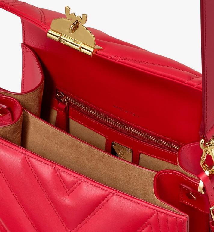 MCM Patricia Shoulder Bag in Quilted Leather  MWS9APA81RU001 Alternate View 4