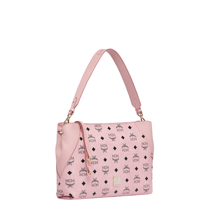 MCM Klara Shoulder Bag in Visetos Pink MWS9SKM69PZ001 Alternate View 2