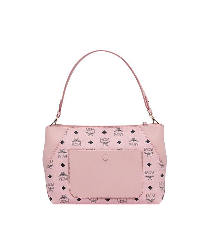 MCM Klara Shoulder Bag in Visetos Pink MWS9SKM69PZ001 Alternate View 4