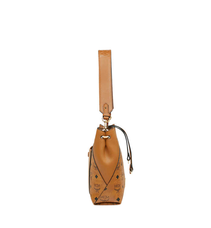 MCM Klara Shoulder Bag in Visetos Cognac MWS9SKM89CO001 Alternate View 3