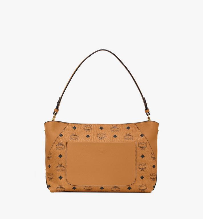 MCM Klara Shoulder Bag in Visetos Cognac MWS9SKM89CO001 Alternate View 4