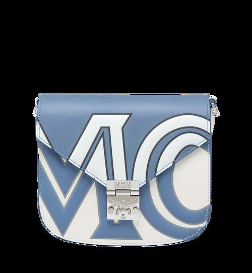 Patricia Schultertasche aus Leder mit kontrastfarbenem Logo