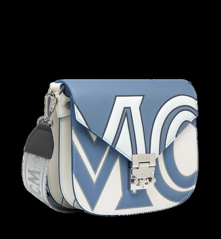MCM Patricia Schultertasche aus Leder mit kontrastfarbenem Logo Grey MWS9SPA37HH001 Alternate View 2