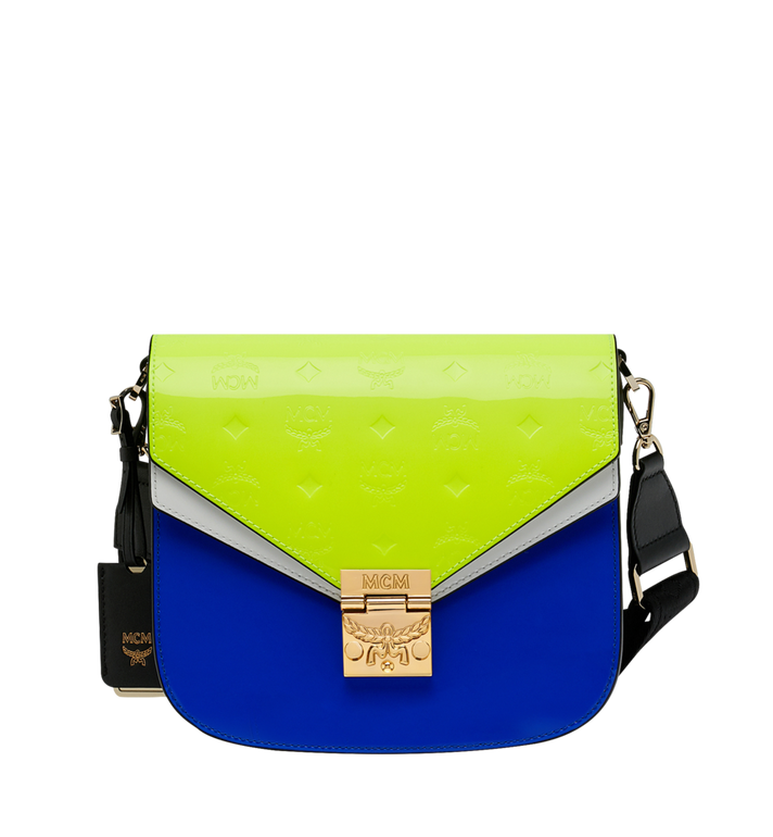 MCM Patricia Shoulder Bag in Monogram Patent Leather Alternate View
