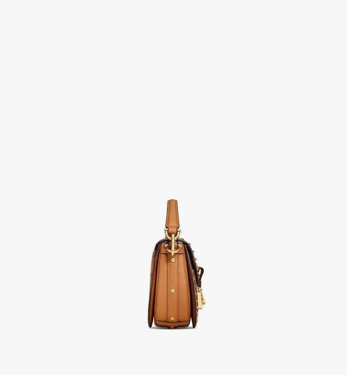 MCM Patricia Shoulder Bag in Studded Outline Visetos Cognac MWSAAPA04CO001 Alternate View 2