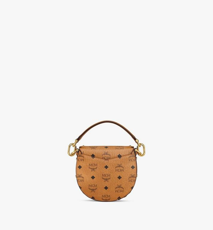 MCM Patricia Shoulder Bag in Studded Outline Visetos Cognac MWSAAPA04CO001 Alternate View 4