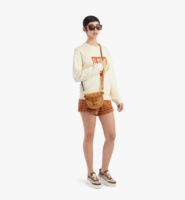 MCM Patricia Shoulder Bag in Studded Outline Visetos Cognac MWSAAPA04CO001 Alternate View 5