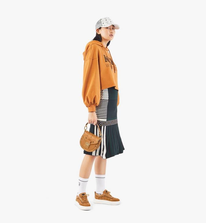 MCM Patricia Shoulder Bag in Studded Outline Visetos Cognac MWSAAPA04CO001 Alternate View 6