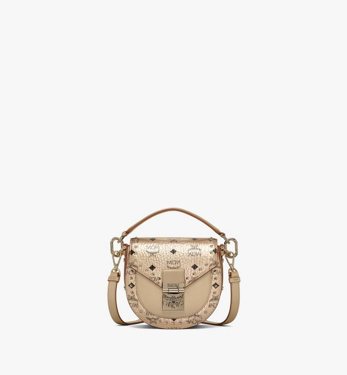 MCM Patricia Shoulder Bag in Studded Outline Visetos Gold MWSAAPA05T1001 Alternate View 1