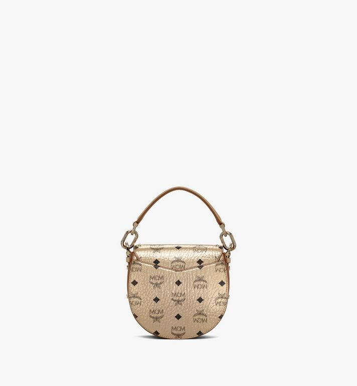 MCM Patricia Shoulder Bag in Studded Outline Visetos Gold MWSAAPA05T1001 Alternate View 4